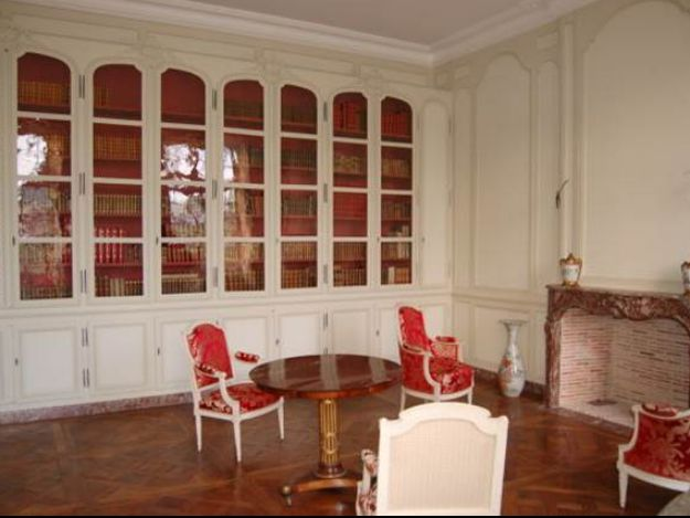 restauration bibliotheque chateau apres