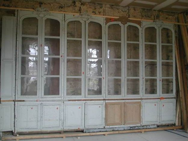 restauration bibliotheque chateau avant